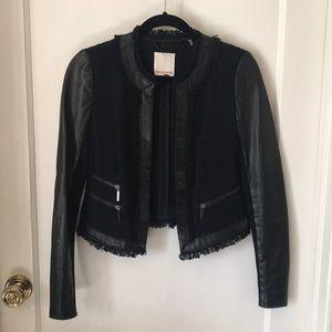 Rebecca Taylor Tweed Leather Jacket size 2